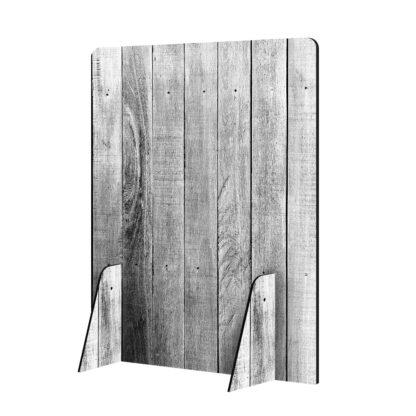 Scheidingswand hoog hout 2 zonder logo