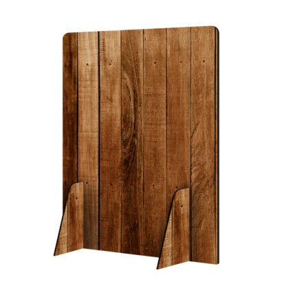 Scheidingswand hoog hout zonder logo