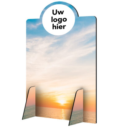 Scheidingswand hoog lucht met logo