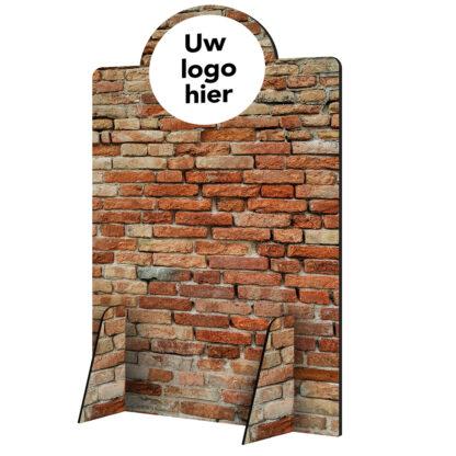 Scheidingswand hoog muur met logo