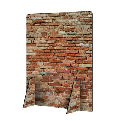 Scheidingswand hoog muur zonder logo